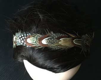 Feather Deevine: Earth-Toned Feather Headband
