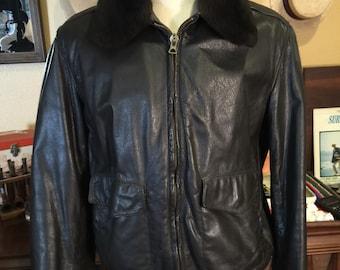 Vintage Chocolate Brown LL Bean Bomber Jacket