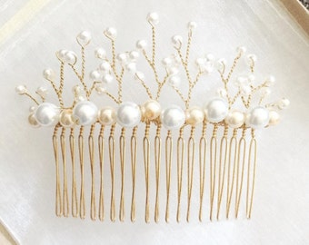 Pearl hair comb, Bridal hairpiece, Wedding hairpiece, Bridal hair comb, Wedding hair comb, Pearl hair accessories, Bridal hair accessories