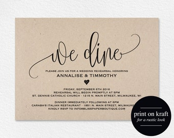 Rehearsal Dinner Invitation Printable, Rehearsal Dinner Invitation, Rehearsal Invitation, Wedding Rehearsal, PDF Instant Download #BPB203_9