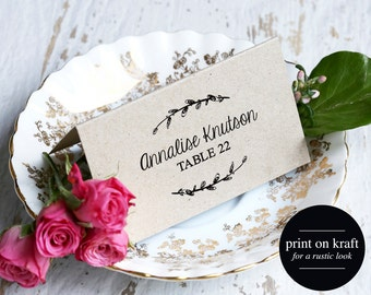 rustic place cards wedding place card template escort cards wedding printable rustic
