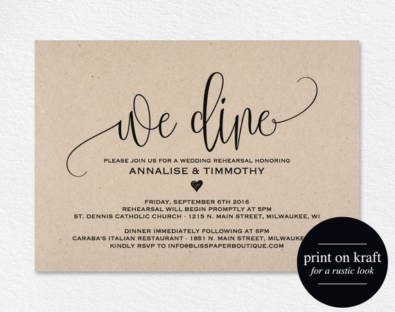 Dashing image pertaining to printable rehearsal dinner invitations