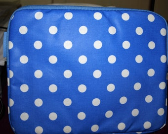 Medium Blue  Dotty iPad Case
