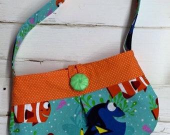 Finding Dory Pleated Toddler Purse HandmadeTo Order