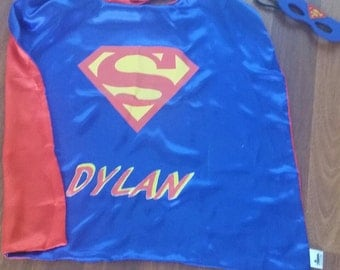 Personalised Super Hero cape and Mask Costume