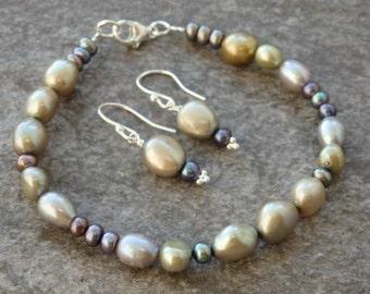 Pearl Bracelet, Pearl Earrings, Freshwater Pearls, Pearl Jewellery, Contemporary Pearls