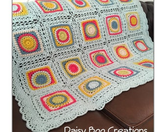 Circle of friends crochet blanket