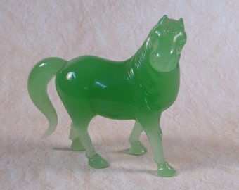Chinese Glass/Jade-like Horse