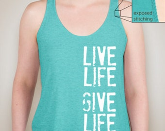Organ Donation Shirt- Cotton Tank Top Supporting Donation!