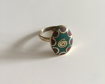 boho ring, bohemian jewelry, gypsy ring, tribal ring, ethnic ring, women ring, vintage ring
