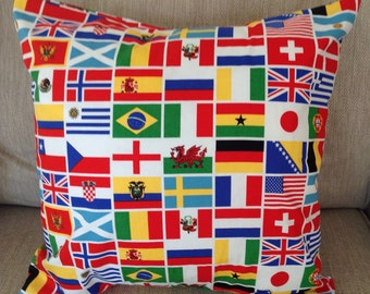 Flags of the world cushion cover