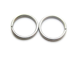 8mm Silver Small Hoop Earrings Cartilage or 2nd Piercing