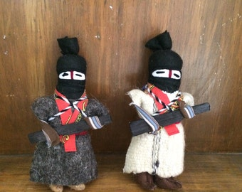 Vintage mexican toy medium warriors zapatistas (EZNL). From Chiapas, Mexico.