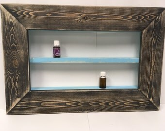 Essential Oil Shelf, essential oil rack, makeup shelf, mary kay, rustic, oil storage, organizer