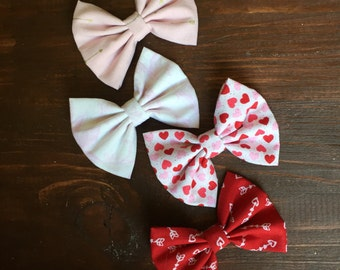 Valentine's Day Fabric Bows
