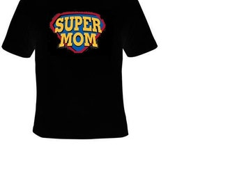 shirts- super mom , super hero mother designed Top.