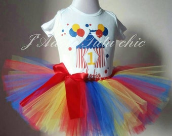 Carnival birthday outfit - carnival 1st birthday outfit - carnival tutu set - carnival birthday theme - circus 1st birthday outfit