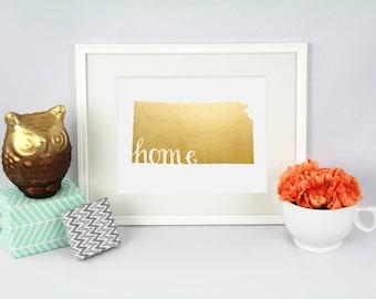 """Kansas """"Home"""" State Foil Prints"""