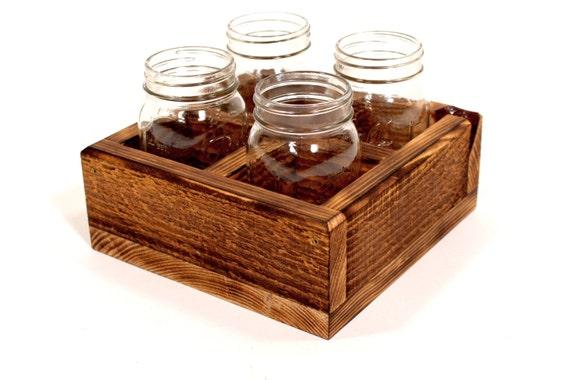 Rustic Mason Jar Crate --- Flintface Woodshop