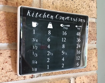Kitchen Signs Kitchen Wall Decor Kitchen Measurements Ready To Ship Measurements Chart Kitchen Chalkboard Kitchen Conversion Chart Sign
