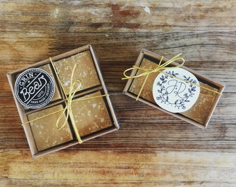 Customisable Salted Caramel Fudge Bonbonniere - Wedding or Corporate gifts!  *SET OF 25*