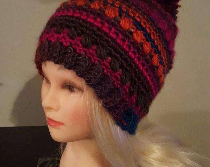 Handmade Crochet pompom hat