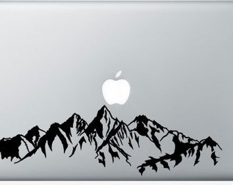 Custom Vinyl Mounatin Range Personal Computer Decal for MacBook, iPad and More