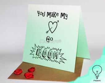 Valentine's day card - You make my heart go boom