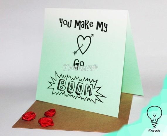 Valentine's day card You make my heart go boomYou Make My Heart Go Boom Boom