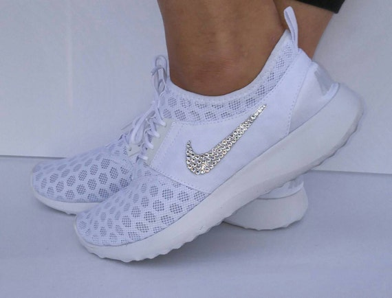 Blinged white Nike Juvenate blinged out Nikes by AllureDesignz