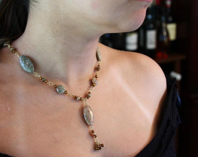 Earthy Unakite necklace