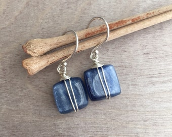 Blue kyanite earrings  Kyanite earrings  Dangle earrings