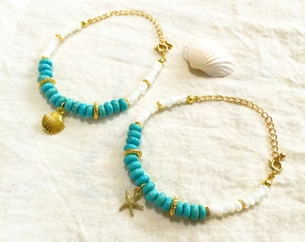 Turquoise & Mother of pearl bracelet