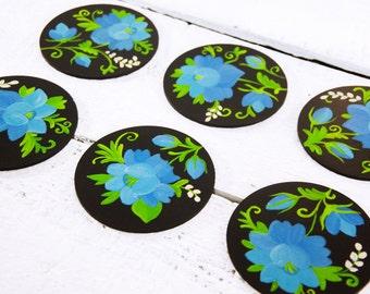 Polish Folk Flower Coasters