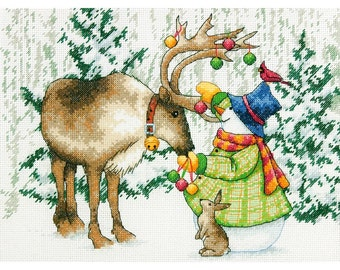 Dimensions Counted Cross Stitch Kit - Ornamental Reindeer, #70-08947