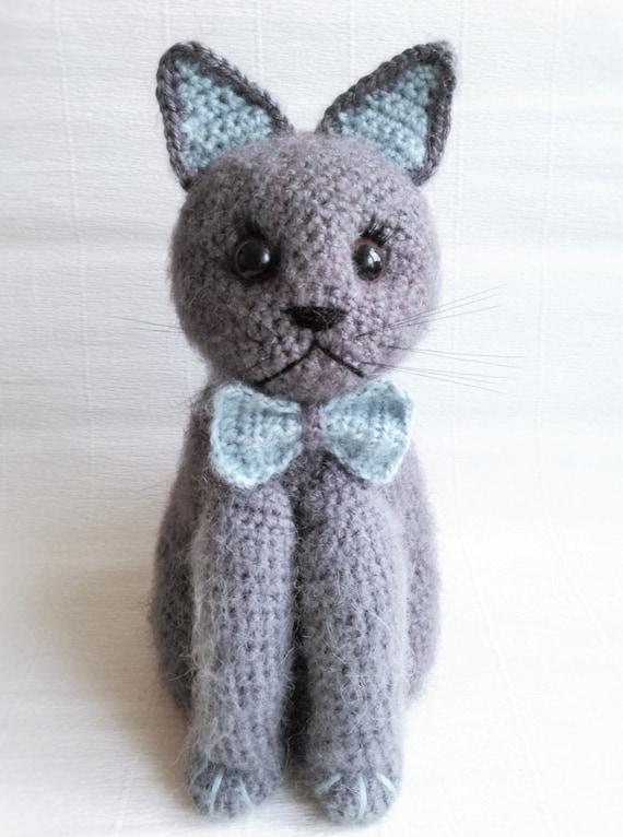 Crochet Amigurumi Cat Christmas gift Knit kitty by ...