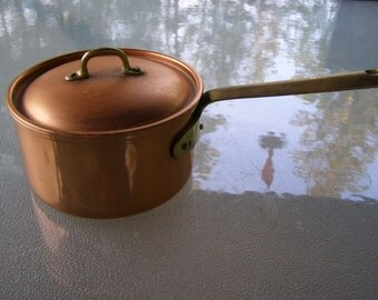 Copper Sauce Pan with Cover Tagus Portugal