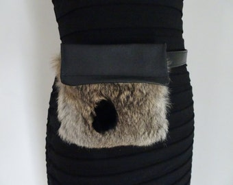 Past-Pocket recycled leather and fur!