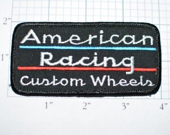 American Racing Custom Wheels Rare Vintage Very Rare Iron-On Patch Automotive Collectible e10c - Free Shipping *Only 1 Available*