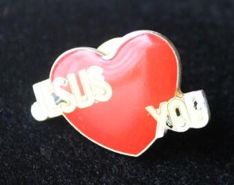 Vintage Jesus Loves You Pin #297
