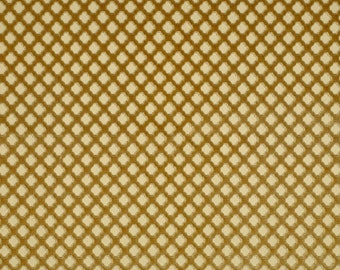 SCALAMANDRE POMFRET Geometric Cut Velvet Silk Fabric 10 Yards Coffee on Beige