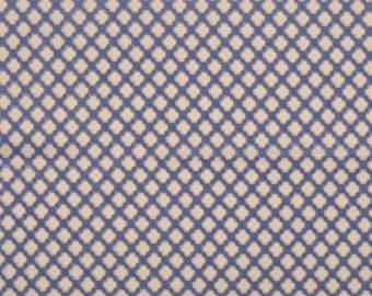 SCALAMANDRE POMFRET Geometric Cut Velvet Silk Fabric 10 Yards Blue on Beige