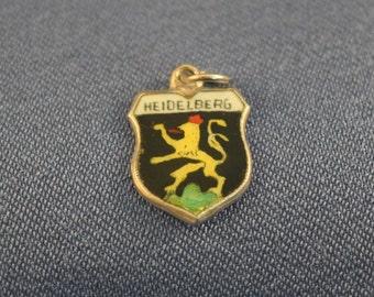 Heidelberg Germany enamel travel 800 silver charm