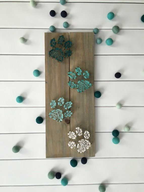 String Art Customizable String Art Paw Print String Art