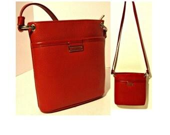 Shoulder Bag, Crossbody Bag, Leather Bag, Leather Purse, Red Purse, Over Shoulder Bag, Vintage Shoulder Bag, Vintage Purse, ESPRIT Bag