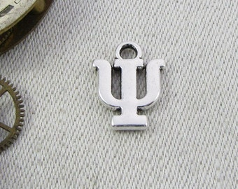 Silver Greek Letter Psi  Charm, 1 or 5 letters per package  ALF009y