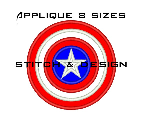 Captain America Machine Embroidery Designs