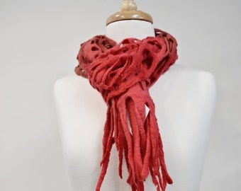 Warm Winter Wool Felt Scarf Shawl Wrap Womens Scarves Hand Dyed Wool Felt Scarf  11607