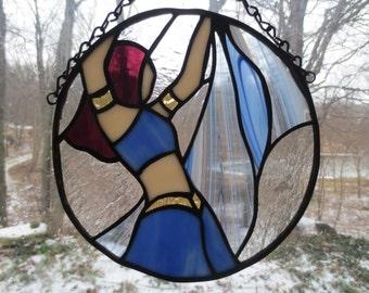 Belly Dance Dancer Stained Glass Suncatcher