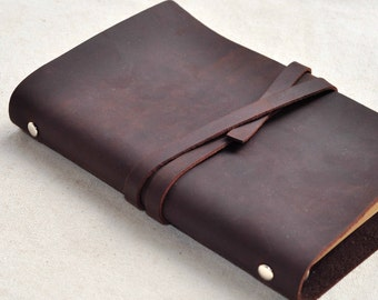 Personalized leather notebook,Personalized Leather Journal Notebook or Sketchbook ,leather replaceable notebook(Free Stamp)